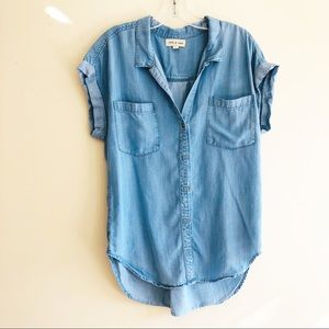 Cloth & Stone chambray button up shirt
